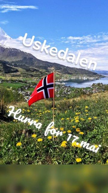 Hurra for 17.mai Uskedalen